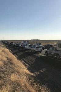A huge traffic jam