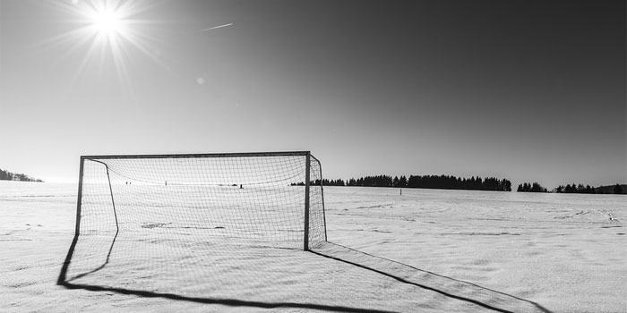 Picture of an empty goal